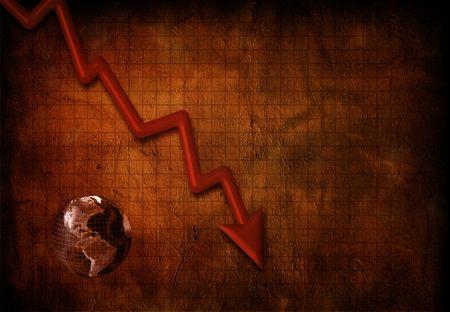total loss: Global Downturn Stock Photo