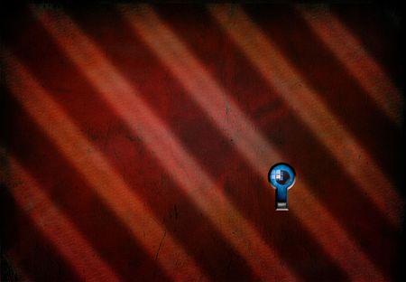 Key hole with peering eye