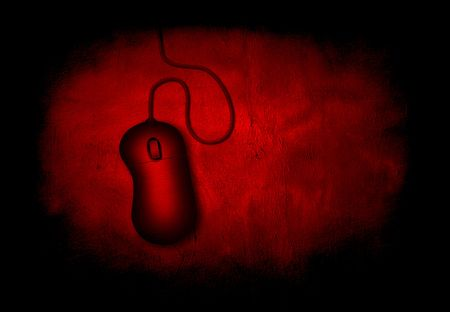Deep Red Grunge Computer Mouse photo