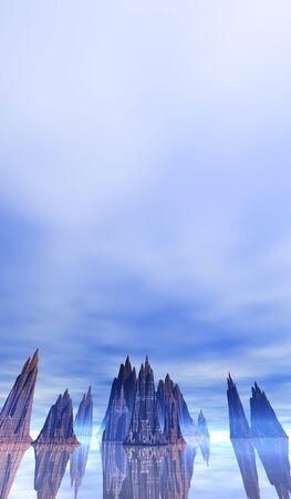 stormcloud: 3D Landscape Stock Photo