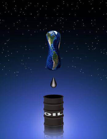 石油が枯渇しつつ 写真素材