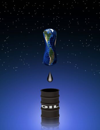 flat earth:  Oil being depleted