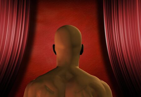 Man faces empty stage Stock Photo - 2108507
