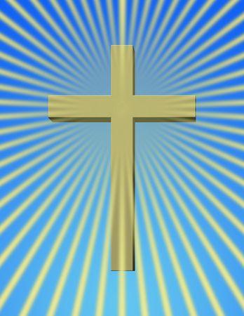 sanctity: Una croce con raggi raggiante