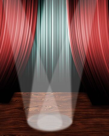 comedy: Spot Lights on stage Stock Photo
