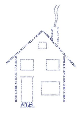 simple logo: Home composed of text