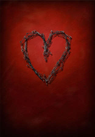 Barbed Wire Heart photo