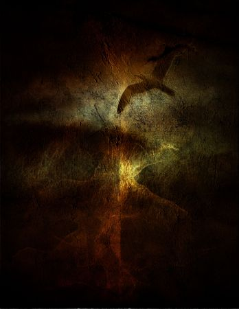Grunge Bird Composition Stock Photo - 2127180