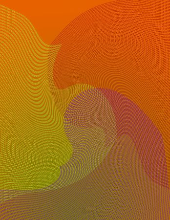 70s Vibe Retro Binary Background