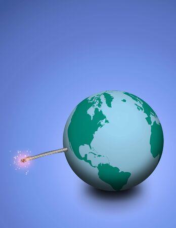 detonate:   Explosive earth Stock Photo