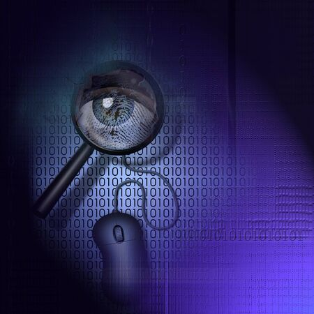 information technology law: Binary Detection - Security Stock Photo