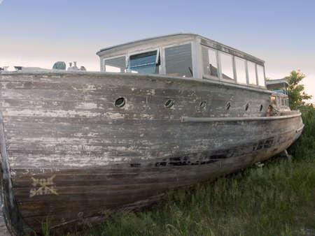 Drydock Old Boat Banco de Imagens