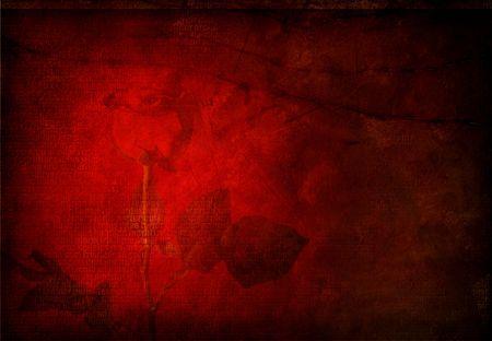 Hi-Res Grunge red rose background