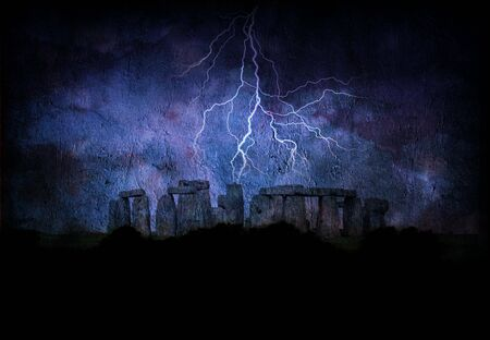 Stone henge lightning