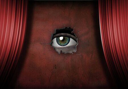 Eye Gleichaltrigen aus Phase  Standard-Bild