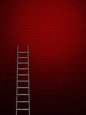 Hi-Res Ladder leans against a wall