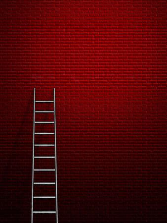 leans: Hi-Res Ladder leans against a wall