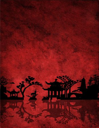 chi: Chinese Red Landscape