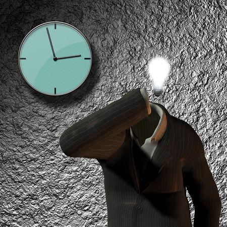 Clock, suit idea photo