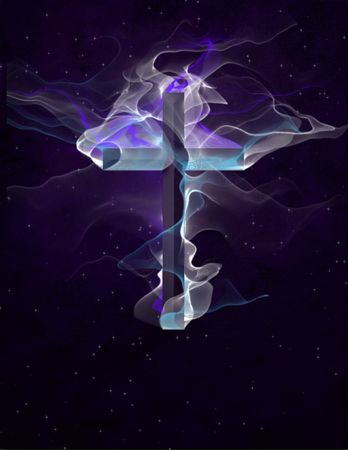 methodist: Cross against stars Stock Photo