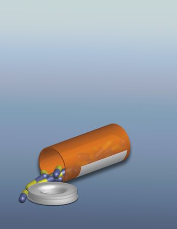reliever: Illustrated Prescription Bottle and capsules