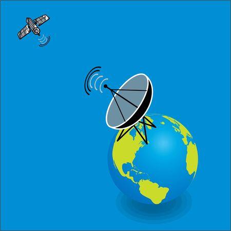 telecast: Satellite on earth