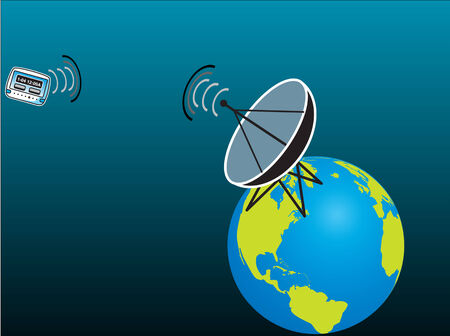 satelite: Pager receiving Signal from Satelite