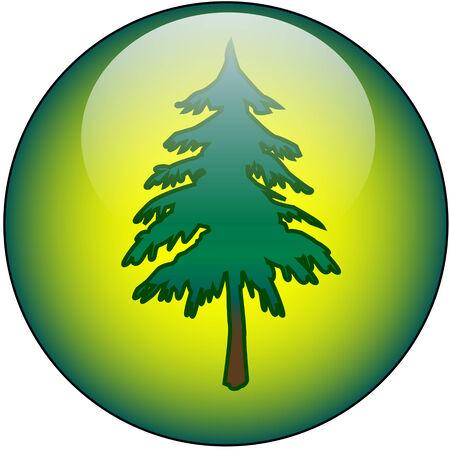 Tree Web Button Stock Vector - 2327442
