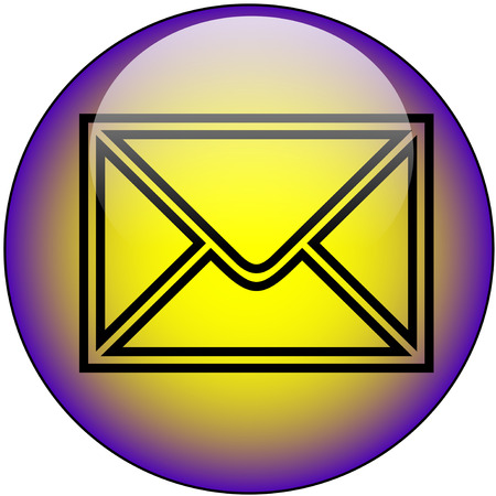 Email Web Button Vector