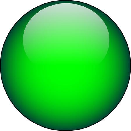 Vector botón verde de vidrio  Foto de archivo - 2327431