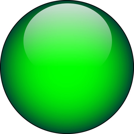 rectangle button: Vector Green Glass Button Illustration