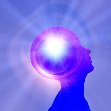 brain clipart: Power of thought Stock Photo