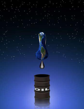 石油枯渇されて