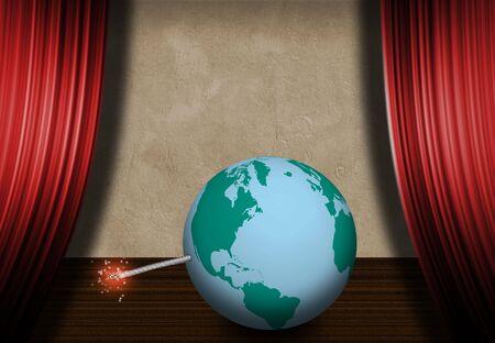 World Stage - Explosive Stock Photo - 2345381