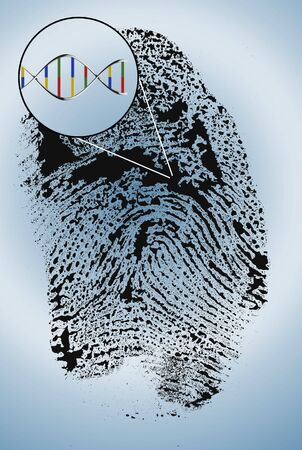 DNA extract from finger print