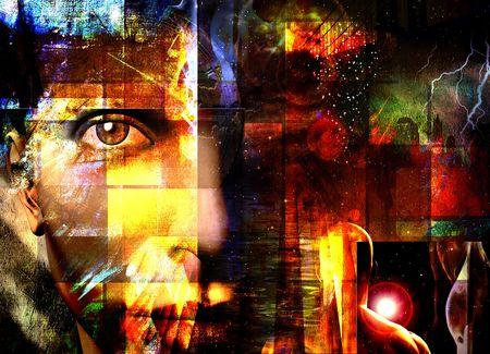 Abstract met gezicht Stockfoto - 2345413