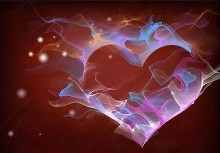 Abstract Smoke Heart