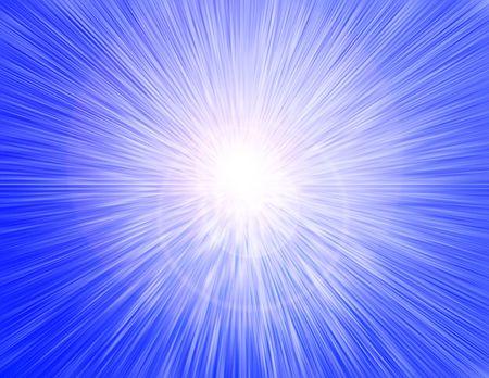 Blue rays Stock Photo
