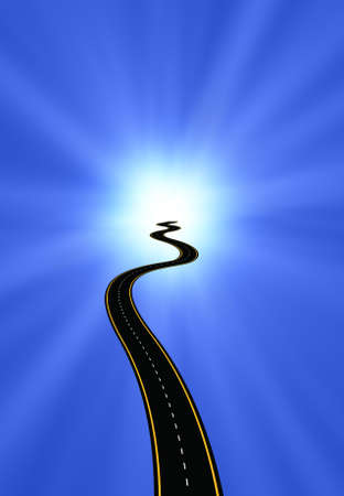 grandeur: Road to Enlightenment Stock Photo