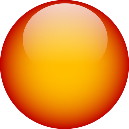 Orange glass web button Illustration