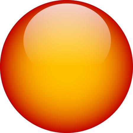 Orange Web vidrio botón  Foto de archivo - 2366093
