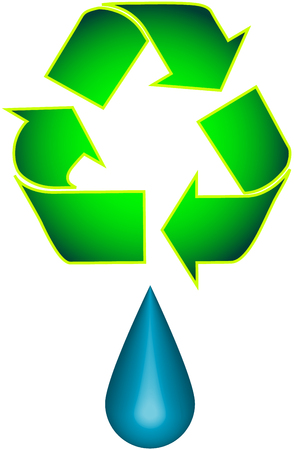 Recycle and Droplet Stock Vector - 2366113