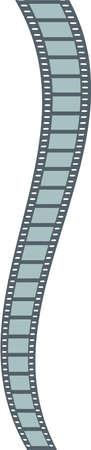exposed: Vector long film strip Illustration