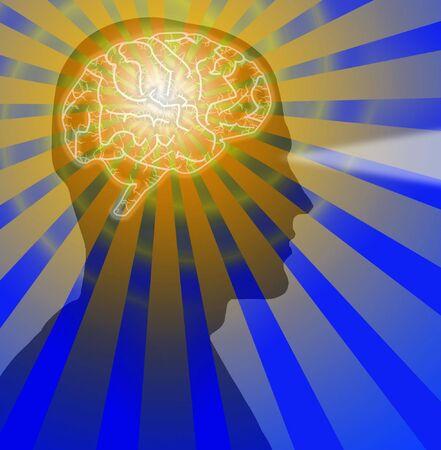 human mind: Brain visi�n masculina
