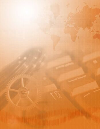 Communication and internet as a world machinery Banco de Imagens