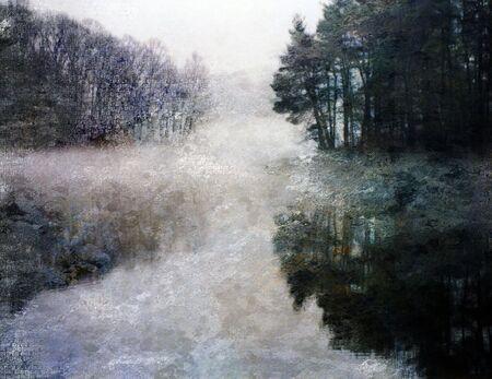 ethereal: Ethereal Lake Impression Stock Photo