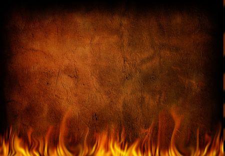 incendio casa: Fire Wall y grunge  Foto de archivo