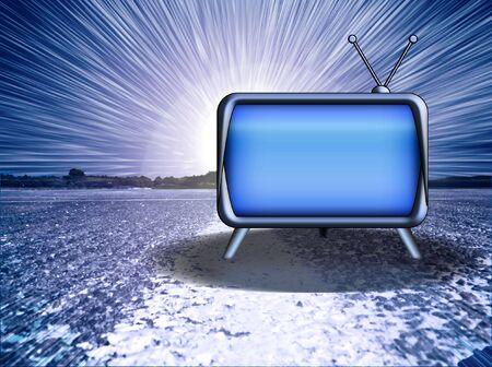 Blank TV with dramatic burst Stock Photo - 2454272