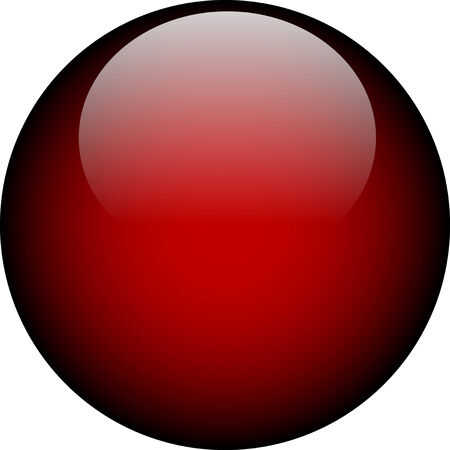 Vector Deep Red Glass Button Vector