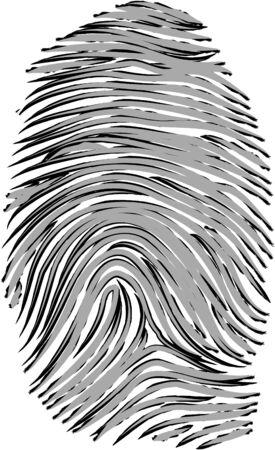 Vector Fingerprint Иллюстрация